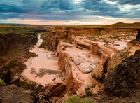 1886 Grand Falls of the Little Colorado, Sunset